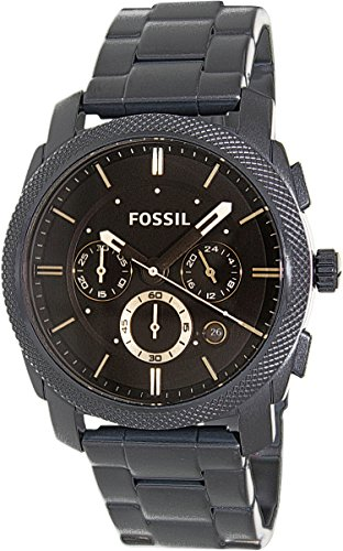 Fossil Men's FS4682 Stainless Steel Analog Black Dial (Fossil Mens Black Dial Watch)