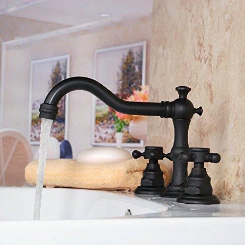 Hiendure Handle Widespread Bathroom Faucet