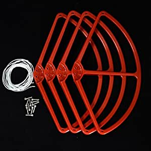 Ake Universal Prop Propeller Guard Protective Cover Case Blade Bumper Drone Aircraft Accessory para DJI Phantom1 2 -Red