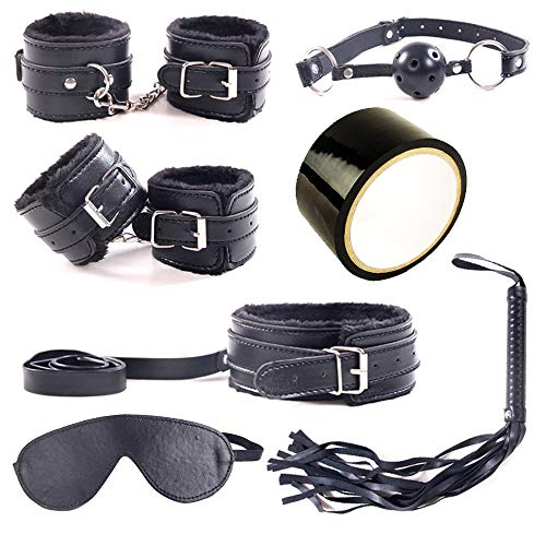 2b07300ede0268 Toys Shop 7 PCs Tactical Restraint Kit Bedroom Toys Handcuffs Ankle Cuffs  Kits for Couples (