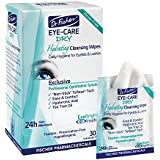 Dr. Fischer Daily Relief for Dry Eyes | Hygienic & Hydrating Eyelid Wipes | Irritation | Redness | Eye Cleanser |  Eye Moisturizer |  Tearless Wipes to effectively clean and soften