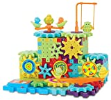 Interlocking Building Blocks and Gears 81 Pcs Construction Toy Set for Children Kids Boys Girls - Motorized Spinning Wheels - Build Variations with Funny Puzzle Bricks Gear Wheels Brand Ideas In Life