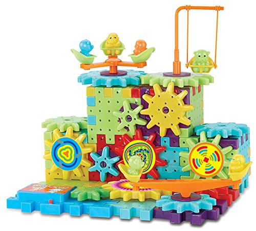 Ideas In Life Interlocking Building Blocks and Gears 81 Pcs Construction Toy Set for Children Kids Boys Girls - Motorized Spinning Wheels - Build Variations with Funny Puzzle Bricks Gear Wheels Brand
