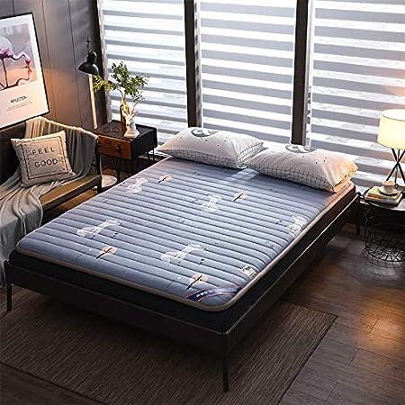 DULPLAY Impresión Plegable Cama Colchón Topper,Roll Up Colchón Futon para Estudiante Dormitorio,algodón No-resbalón Tatami Almohadilla para Dormir D 180x200cm(71x79inch): Amazon.es: Hogar