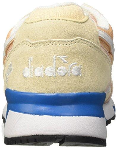Collo a Vivido Bisque Sneaker Diadora III azzurro Basso Rosa Uomo C7376 N9000 Candeggiato beige zOqRtRI