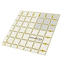 MagiDeal Square Grid Sewing Quilting Ruler Drawing Template DIY Tool for Patchwork Craft 16.5x16.5cm