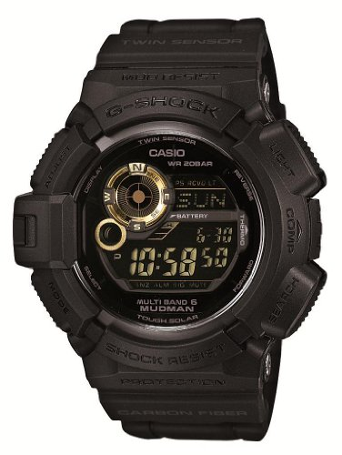 Casio G-shock Mudman Black X Gold Multiband6 Japanese Model [ Gw-9300gb-1jf ] by Casio