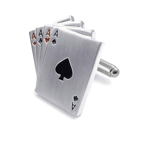 Casino Poker juego de gemelos - traje de ases - acero ...
