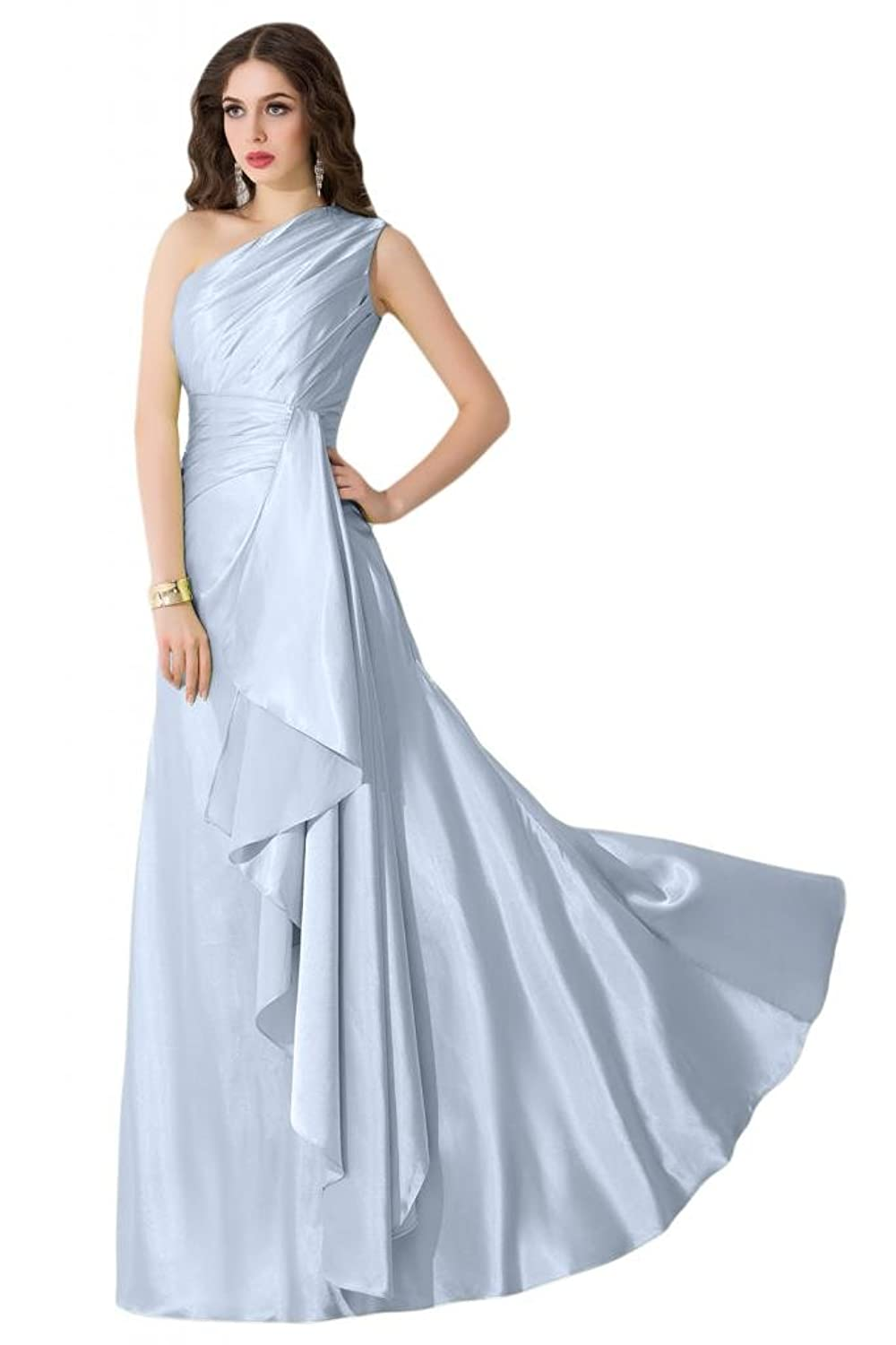 Sunvary Stylish One Shoulder A Line Bridesmaid Wedding Guest Dresses Prom Gowns
