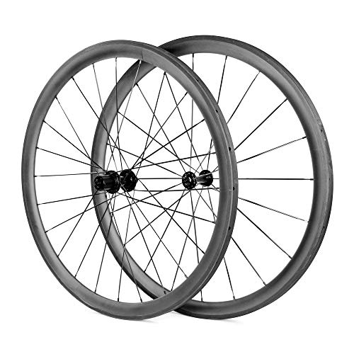 LANDMYTH 700C Bicycle Wheelset 38mm Depth Clincher Carbon Road Bike Wheels (38mm wheelset) ()