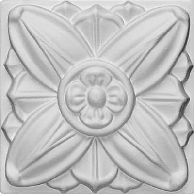 Ekena Millwork ROS08X08FA 3 1/8-Inch W X 3 1/8-Inch H Fairfax Small Rosette