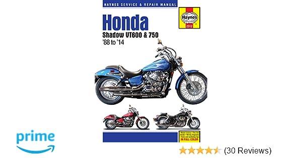 amazon com haynes m2312 honda shadow vt600 and vt750 repair manual rh amazon com 2001 Honda Shadow Ace Deluxe 2001 honda shadow 750 ace owners manual
