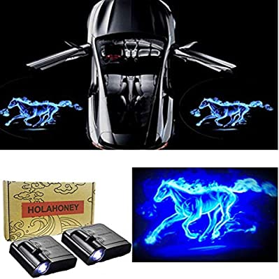 2Pcs Wireless Universal Car Projection LED Projector Door Shadow Light Welcome Light Laser Emblem Logo Lamps Kit No Drilling Required for Jaguar