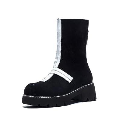 96b0f3a73602 Nine Seven Suede Leather Women s Round Toe Low Heel Back Zipper Handmade  Comfort Walking Dress Ankle Boots