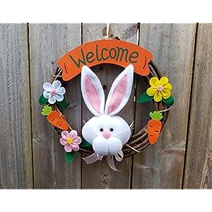 """OrangeDolly Welcome wreaths front door - Welcome Hanging Outdoor décor- Door décor –size 12"""" 66"""