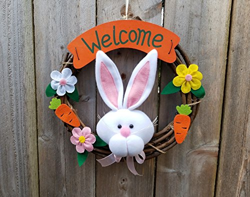 """OrangeDolly Welcome wreaths front door - Welcome Hanging Outdoor décor- Door décor –size 12"""""""