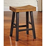 Counter Stool in Two Tone Finish - Set of 2