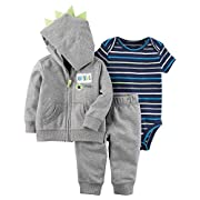 Carter's Baby Boys' 3 Piece Little Jacket Set 3 Months, Gray Dude