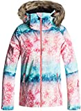 Roxy Big Girls' American Pie Snow Jacket, Neon Grapefruit_Solargradient, 12/Large