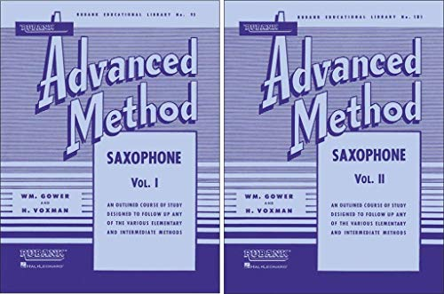 Rubank Saxophone Method, 2 Book Set, Advanced Volumes 1 and 2, RBK SAX ADVANCED SET ()