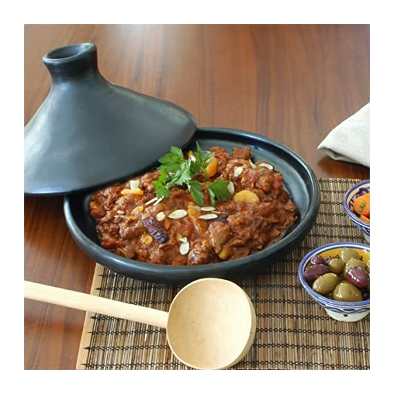 Ancient Cookware, Chamba Tagine, Small 4 Made of natural unglazed clay and completely safe and toxins free Can be used on gas, electric or glass stovetops, as well as the oven, microwave, or grill Handcrafted by our artisans in Central Colombia