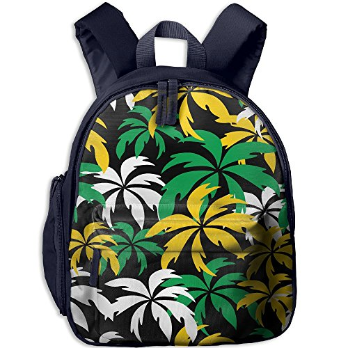 Colorful Palm Trees Children Bag Comfortable Student Backpack Cute