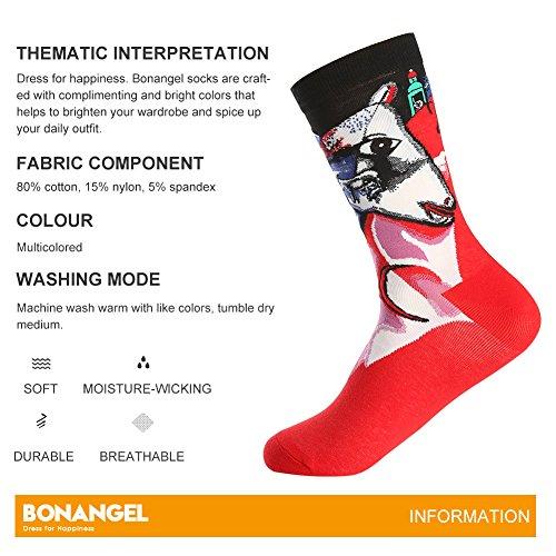 Bonangel Men's Fun Dress Socks-Colorful Funny Novelty Crew Socks Pack,Art Socks by Bonangel (Image #2)'