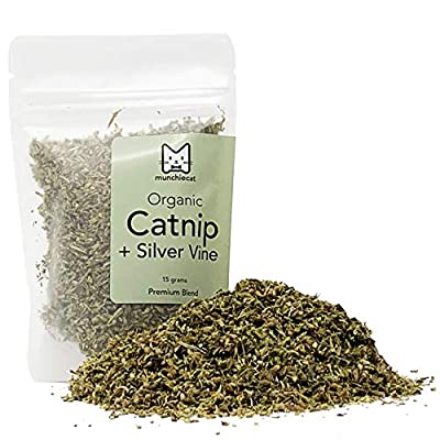CatNip for Cats munchiecat Organic Catnip with Silvervine, USA Grown, Leaf and... [tag]