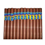 Pack of 12 Raydiant Fade Resistant Art Rolls (18inx50ft; Warm Brown)