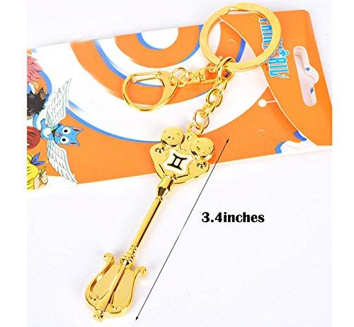 Dreamcosplay Fairy Tail Gemini Logo Pendant KeyChain Key Chain Cosplay ()