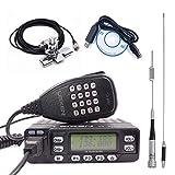 LEIXEN VV-898S Dual Band VHF/UHF 5W/10W/25W Two Way Radio Car Mobile Radio Tranceiver Amateur Ham with USB Programming Cable+ Dual Band Antenna Set