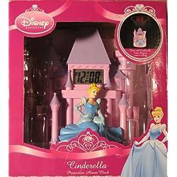 Disney Cinderella & Castle Projection Alarm Clock