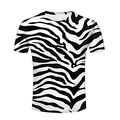 re Zebra Stripes Printed Tops Tees Graphics Pattern L (Texture Zebra)