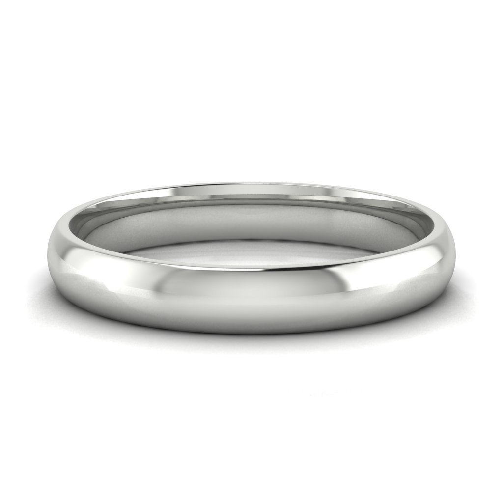 Buy Jewels 10k Gold Comfort Fit 4mm Wedding Bands for Men and Women (white-gold, 6)