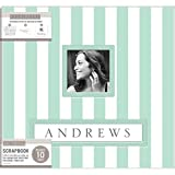 K&Company Frame-A-Name Post Bound Album 12'X12'-Mint Wide Stripe
