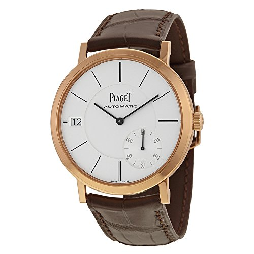 Piaget Altiplano Automatic Silver Dial Brown Leather Mens Watch G0A38131