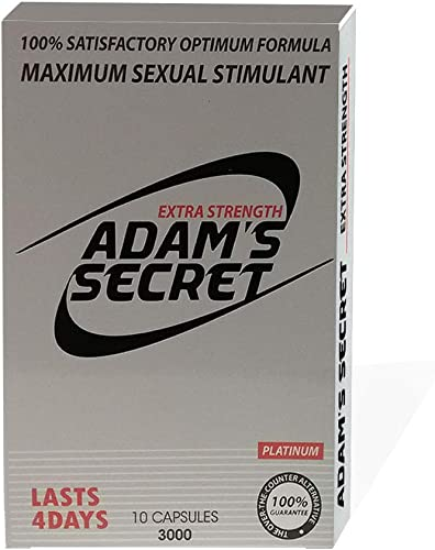 ADAM S Secret 3000 Platinum- Maximize Performance Naturally – 10 Pills per Pack