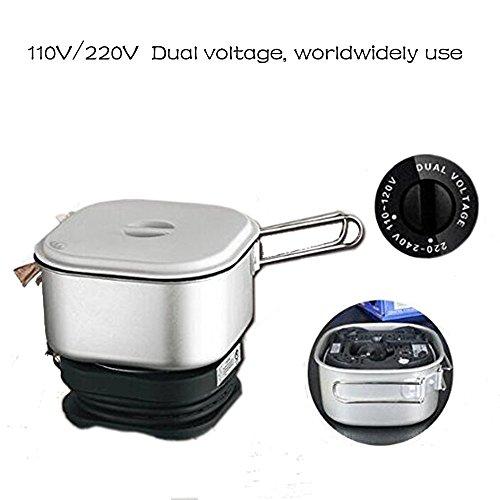 110V/220V Dual Voltage, Worldwide Use, Travel Cooker Portable Mini Electric Multi-pots Machine Hotel Travel Multi (Portable Cooker)