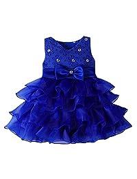Zhengpin Upscale Dress Baby Wedding Dress Diamond Skirt Girls Baby Dress