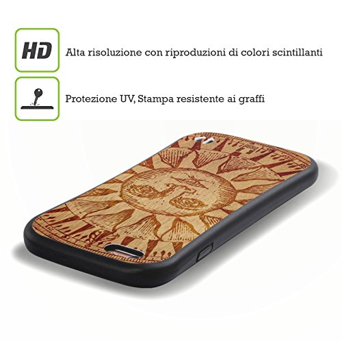 Head Case Designs Sun Wood Art Hybrid Gel Back Case for Apple iPhone 5 5s