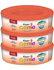 Bolsas de recambio para pañales Playtex Genie Clean para lavandería, con bloqueo máximo olor y antimicrobiano integrado, 270 unidades (paquete de 3)