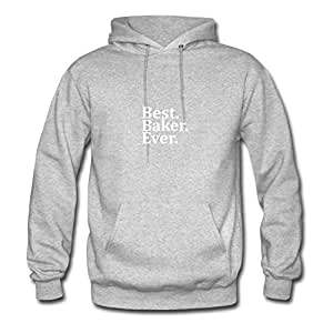 Style Personality Women The Best Baker Ever. Printed X-large Hoodies Grey