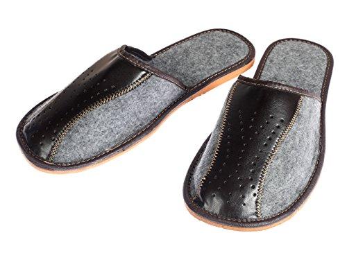 Zapatillas Zapatos Mano A Hombres Fieltro Grises Los Hechos De Apreggio OdxwqpPdg