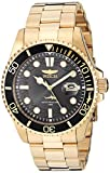 Invicta Men's Pro Diver Quartz Watch with Stainless Steel Strap, Gold, 22 (Model: 30026)