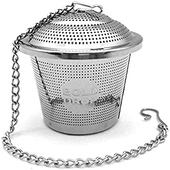 "BoldDrop Extra Fine Loose Leaf Tea Infuser / Stainless Steel Filter with Extended 7"" Chain (1 pack)"
