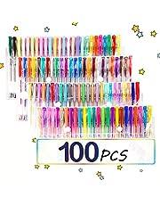 TOPERSUN Rotuladores Pincel Bolígrafos 100 Colores Bolígrafos de Gel