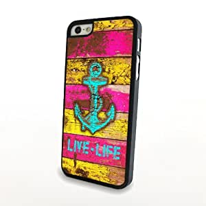 Generic Dragon Anchor Cute Colorful Classical Cartoon Matte Pattern PC Phone Cases fit for iPhone 5/5S Cases