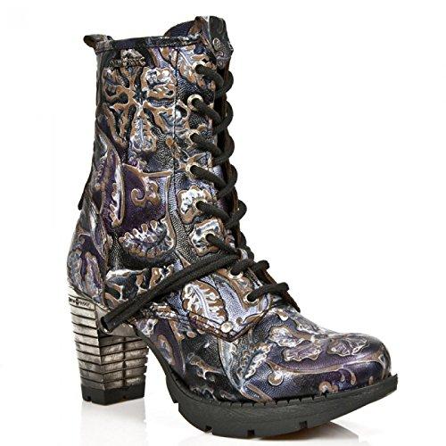 Nuovi Stivali Di Roccia M.tr001-s4 Gotico Hardrock Punk Damen Stiefelette Lila