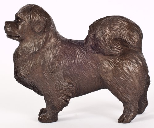 Tibetan Spaniel: Cold-cast Bronze Figurine 5.5 inches long