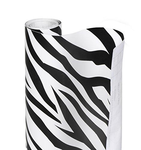 DAZZ 8607901 Zebra Stripes Adhesive Decorative Shelf Liner
